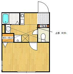 神奈川県相模原市緑区橋本4丁目の賃貸アパートの間取り
