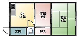 大口文化[2階]の間取り