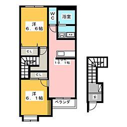 ジェネシスI[1階]の間取り