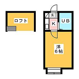 コスモ21刈谷[2階]の間取り