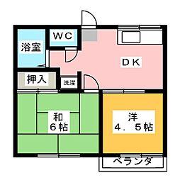 黒川ハイツ[2階]の間取り