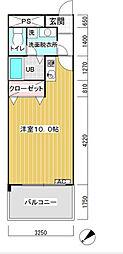 東京都大田区東六郷2丁目の賃貸マンションの間取り