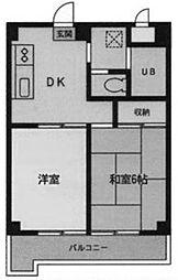 メゾンドウカテイ[3階]の間取り