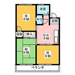 グリーンハウス鳴海[1階]の間取り