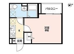 兵庫県尼崎市塚口本町3丁目の賃貸アパートの間取り