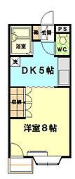 東京都日野市南平3丁目の賃貸マンションの間取り