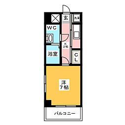 エステートモア箱崎[3階]の間取り