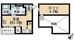 Ange神戸(アンジュコウベ)[2階]の間取り