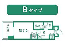 仙台市営南北線 北四番丁駅 徒歩11分の賃貸マンション 10階1Kの間取り