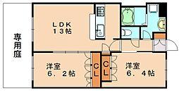 福岡県飯塚市枝国の賃貸アパートの間取り