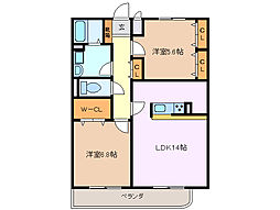 Castle27[3階]の間取り