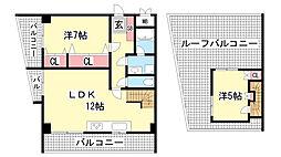 ローレル三宮[701号室]の間取り