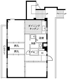 神奈川県藤沢市亀井野の賃貸マンションの間取り