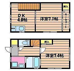 [テラスハウス] 岡山県倉敷市酒津 の賃貸【/】の間取り