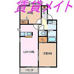セゾンクレール[2階]の間取り