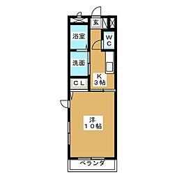 メルベーユ[4階]の間取り
