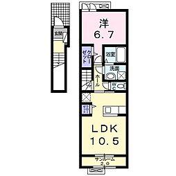 福町アパート[0203号室]の間取り