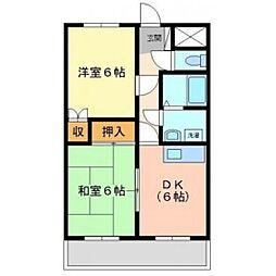 稗田アカマツハイツ[103号室]の間取り