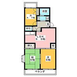 プレステージ浦和 1階3LDKの間取り
