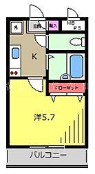 ソリッド磯子弐番館[2階]の間取り