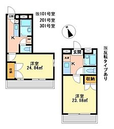 兵庫県神戸市西区竜が岡2丁目の賃貸マンションの間取り
