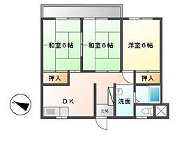 コーポ菊翠[3階]の間取り