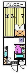 第三カトレアハイツ[1−B号室]の間取り