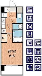 レジュールアッシュ天王寺パークサイド[6階]の間取り