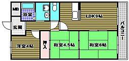 ウィスタリア藤[3階]の間取り