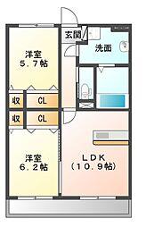 (仮)ユーミー瀬高駅西A棟[3階]の間取り
