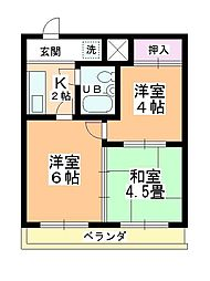田町第二マンションB棟[301号室]の間取り