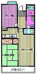 コーポレート浦和中島2号棟[4階]の間取り