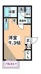 東京都立川市柴崎町5丁目の賃貸アパートの間取り