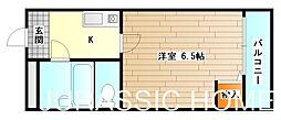 大阪府堺市堺区中之町東3丁の賃貸マンションの間取り