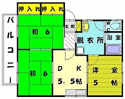 柴田コーポ[2階]の間取り
