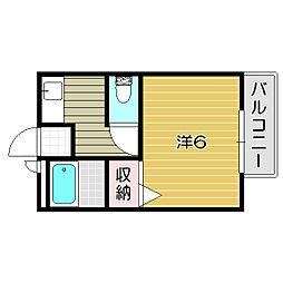 大阪府摂津市鳥飼上2丁目の賃貸アパートの間取り