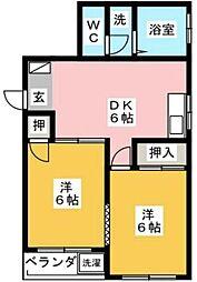 トーメイコーポ[2階]の間取り