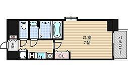 ファーストステージ江戸堀パークサイド[7階]の間取り