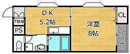 ピコットV[3階]の間取り