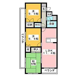 GRAND POIREII[2階]の間取り