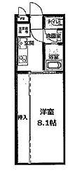 名鉄名古屋本線 栄生駅 徒歩5分の賃貸アパート 1階1Kの間取り
