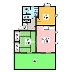 塚本コーポ[1階]の間取り