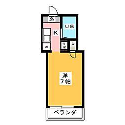 OS・SKYマンション浅間町[4階]の間取り