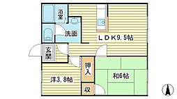 ハイツ前田[107号室]の間取り