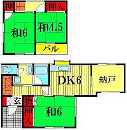 [一戸建] 埼玉県越谷市西方2丁目 の賃貸【/】の間取り