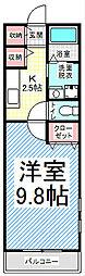 シャロル若里[2階]の間取り