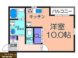 大阪府堺市堺区北三国ヶ丘町8丁の賃貸マンションの間取り