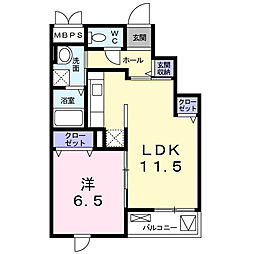 静岡県浜松市中区葵西4丁目の賃貸マンションの間取り