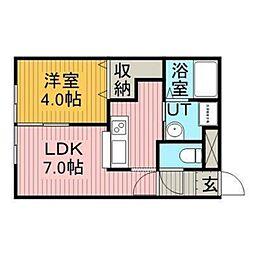 ルフォートK-II[2階]の間取り