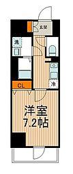 東武伊勢崎線 東向島駅 徒歩2分の賃貸マンション 6階1Kの間取り